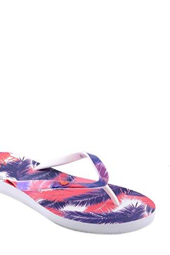 Emporio Armani EA7 tongs femme en caoutchouc sea world palm graphic rose