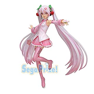 SEGA Hatsune Miku Super Premium Action Figure Sakura Miku Version 2, 9""