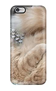 ZippyDoritEduard Fashion Protective Orange Cat With Furry Tail Case Cover For Iphone 6 Plus