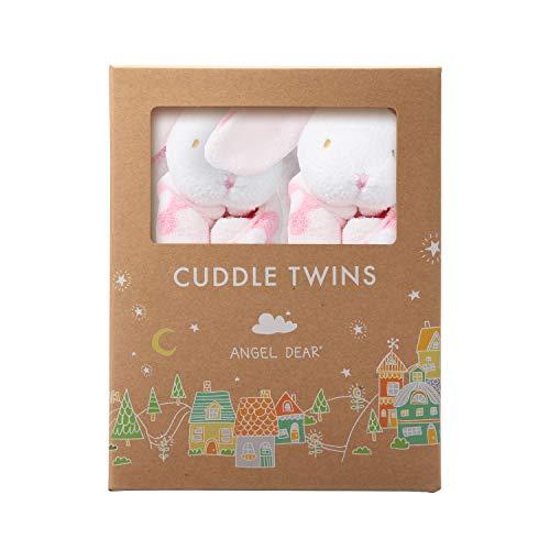 - Angel Dear Cuddle Twin Set, Flower Print Bunny