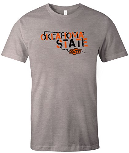 NCAA Oklahoma State Cowboys Adult NCAA Stenciled Short sleeve Triblend ()