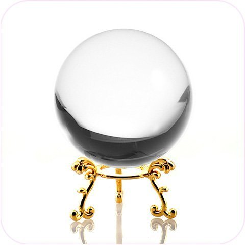 Crystal Balls Gifts (Amlong Crystal Clear Crystal Ball 60mm (2.3 in.) Including Golden Flower Stand and Gift Package)
