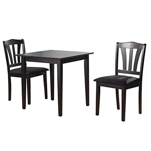 The Mezzanine Shoppe 10103BLK Metropolitan Mid Century Modern 3 Piece Dining Room Set Black