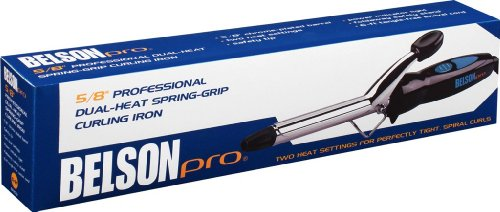 (Belson Pro Dual Heat Spring-Grip Curling Iron 5/8