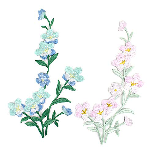 Danse Jupe Creative Plum Blossom Appliques Embroidered Iron on/Sew on Han Chinese Clothing Patch DIY Accessory