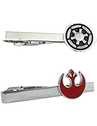 Star Wars - Imperial & Red Rebel - Tiebar Tie Clasp Set of 2 Wedding Superhero Logo w/Gift Box
