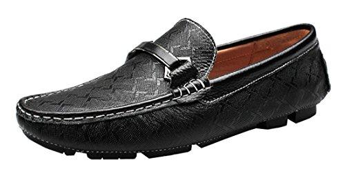 Tda Mens Casual Comfort In Pelle Business Guida Vestito Scarpe Doug Nero
