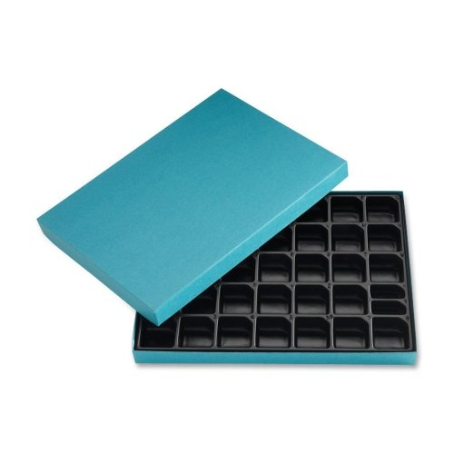 Wholesale CASE of 10 - Ghent Message Board Letters Storage Box-Letter Storage Box, 34 Compartments, Blue
