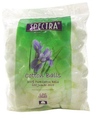 Great Lakes ICB100 100 Percentage Cotton Balls, 100 Count