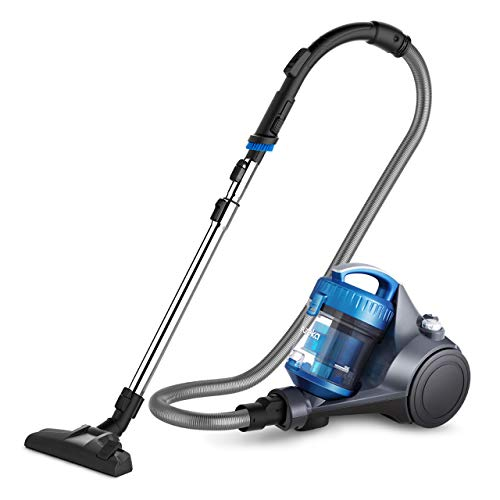 Eureka NEN110A Whirlwind Bagless Canister Vacuum Cleaner, Lightweight Corded Vacuum for Carpets and Hard Floors, Blue (Renewed)