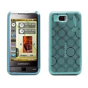 Logotrans Circle Series Funda de silicona para Samsung Omnia i900 azul