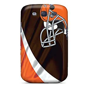 Galaxy S3 Hard Back With Bumper Silicone Gel Hard Case Cover Cleveland Browns