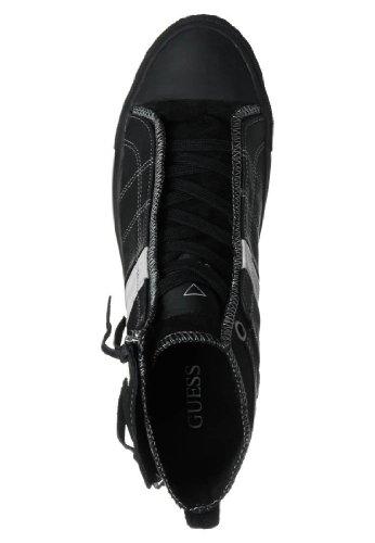 sportiva FM4BEKLEA12 in alta SNEAKERS e Nero Modello Guess BREAK Scarpa tela pelle uomo qgwpIPpR