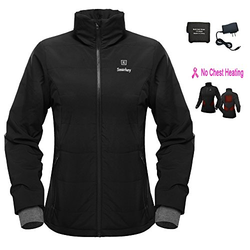 Cordless 7.4v Women's Heated Jacket Winter Outdoor Coat With Battery and Charger
