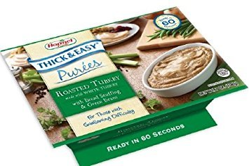 Hormel Thick And Easy Purees 7 Oz  Bowl Turkey With Stuffing  Green Beans  Engo60749