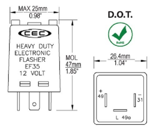CEC Industries EF35 Flasher