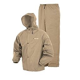 Frogg Toggs Pro Lite Rain Suit, X/2X, Khaki