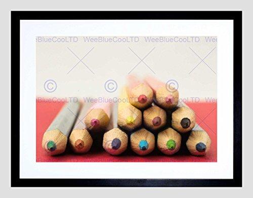 (PHOTO COMPOSITION SHARP END POINT COLOURED PENCILS FRAMED ART PRINT B12X13082)