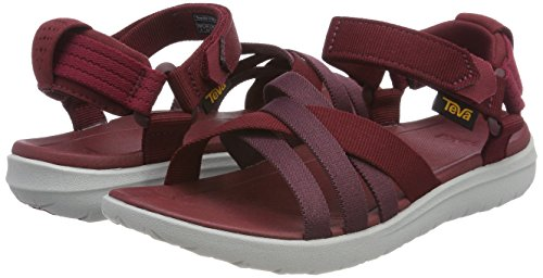 Sanborn Teva red Rouge Bout Sandales Femme W Rhubarb Ouvert Rqnaq5Tw