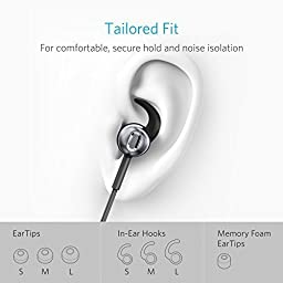 Anker SoundBuds Digital IE10 In-Ear Lightning Headphones with Sound Mode Adjustment - Earbuds with High Resolution Sound, MFi Certified, IPX5 Water Resistant and Built-In Mic for iPhone 7, iPad, iPod