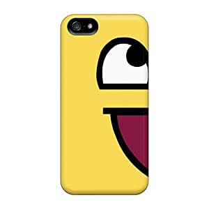 Awesome Happy Smiley Flip Case With Fashion Design For Iphone 5/5s