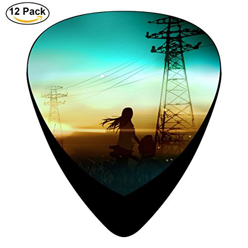 Firefly Summer Custom Celluloid Guitar Picks 12-Pack Black