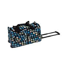 Rockland PRD322 Luggage Rolling Duffle Bag, Mulblue Dot, Small, 22-Inch