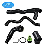 6pcs Engine Crankcase Breather Hose for Audi TT VW Jetta Golf 1.8L AWW AWP B018