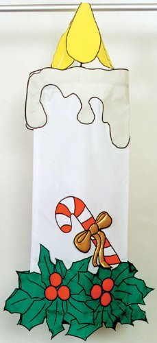 Candle Stick Outdoor Appliqued Wind Sock 24