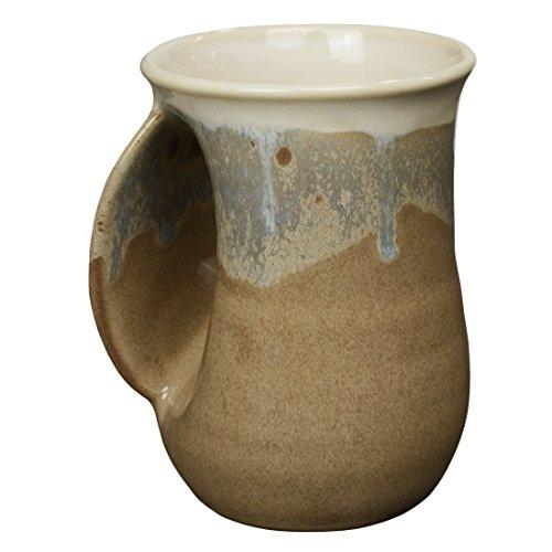Ceramic Mug (Clay in Motion Handwarmer Mug - Desert Sand - Left Handed)