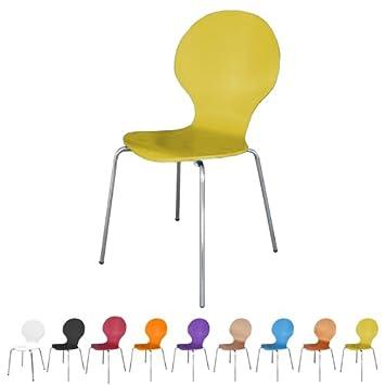 Design Stühle Klassiker stuhl stapelbar design klassiker metall holz sehr belastbar gelb