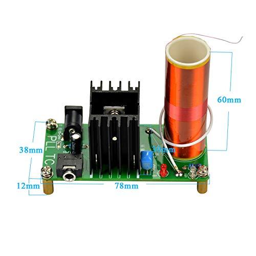 Finished 15W Mini Tesla Music Coil Plasma Speaker Electronic Board Field 15V-24V