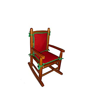 Baby Doll Bedding Holiday Solid Reversible Junior Rocking Chair Pad, Red/Green