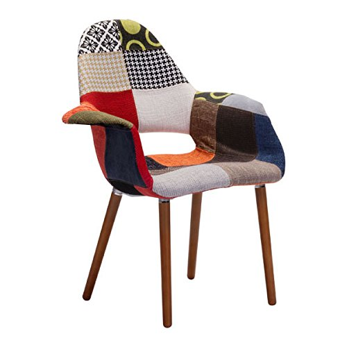 Obsolete – Zuo Modern Moshe Occasional Chair, Patchwork Multicolor Review
