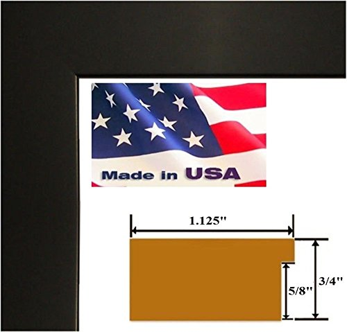 Custom Poster Frames (24x30 Custom Black 1.125 inch Picture Poster Photo Frame Solid Wood #CTM1125)