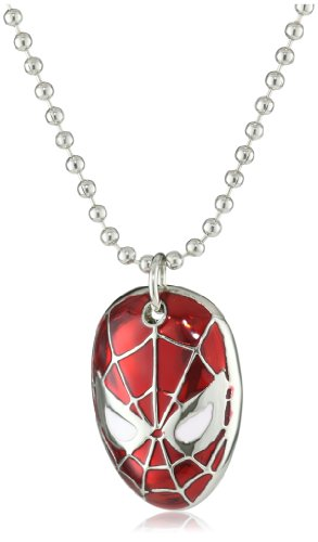 Marvel Comics Spider-Man Face Men's Necklace (Spider Man Jewelry)