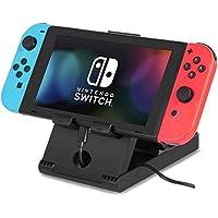 Soporte para Nintendo Switch, Base compacta universal Playstand plegable para Nintendo Switch, Soporte de soporte ajustable para varios ángulos para consola de juegos Nintendo NS, iPad, tableta, teléfono móvilil