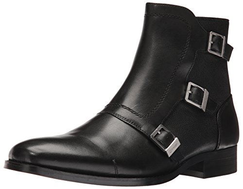 Calvin Klein Men's Stark Leather Boot, Black, 13 M US