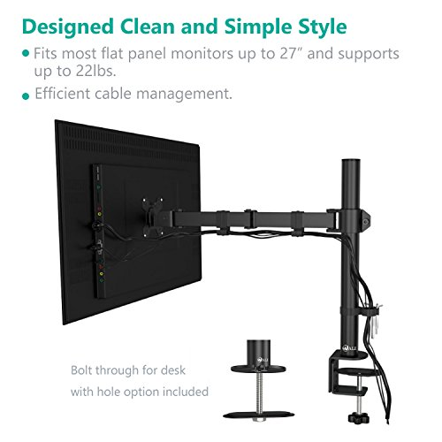 Wali Single Lcd Monitor Desk Mount Fully Adjustable Stand
