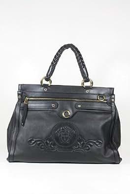 Versace Handbags Large Black Leather DBFC803