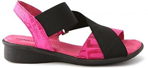 Slingback Pink Leather Sandal Comfortiya Vera Women's Casual qBwqv1U