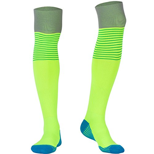 Compression Socks for Men Over Knee, BEST Graduated Athletic Fit for Running, Nurses, Flight Travel & Maternity Pregnancy. Boost Stamina, Circulation & Recovery (green, one size fit most)