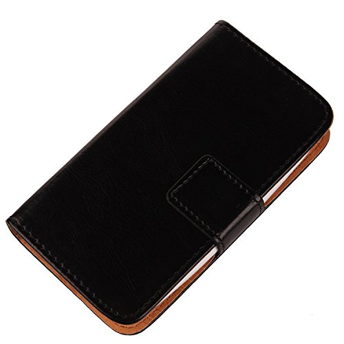 Gukas Color Design PU Wallet Flip Leather with Card Slots Cover Skin Protective Case Shell for Samsung Galaxy J1 Ace SM-J110H 4.3
