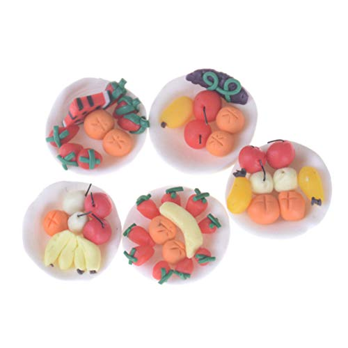 Dollhouse Miniature Various Fruits Dish Plate Mini Food Decor Toy HU from Brosco