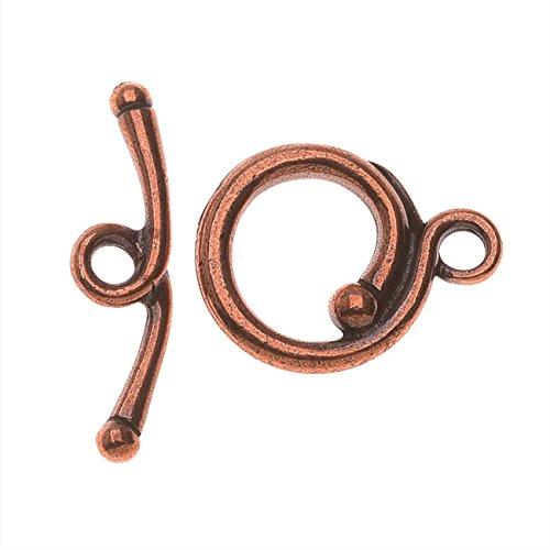 TierraCast Maker's Collection, Renaissance Toggle Clasp Set, Antiqued Copper Plated