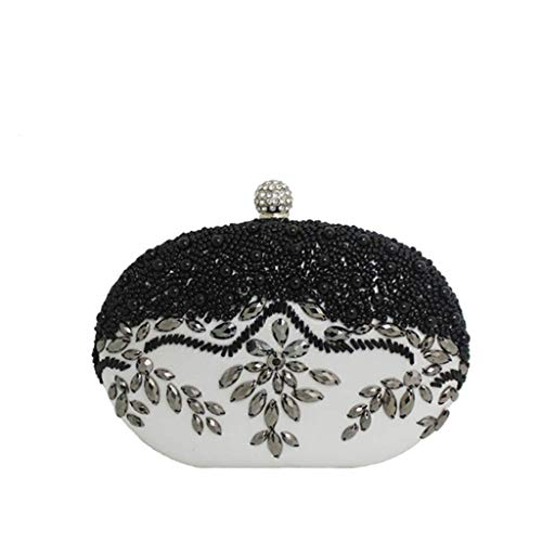 Bag Single With JUZHIJIA Chain Black Across Banquet Pearl Shoulder The Bag Drill A 16×13cm Small Bag A qfxxYSgt