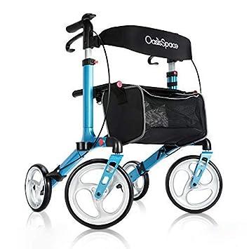 Amazon.com: OasisSpace - Carretilla de aluminio con ruedas ...