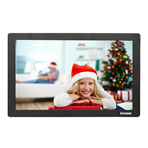 Digital Video Picture Frame 13 Inch,Kenuo 1280 x 800 HD LED Screen with Calendar, MP3/Photo/Video Player with Remote Control – Black