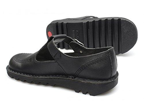 Schwarz CORE Schuhe Damen LO W Schwarz Flache KICK Leder AZTEC aPzqgw6
