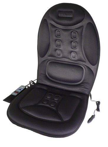 Car Seat Heated Deluxe Cushion - Wagan IN9988 Black 12V Ergo Comfort Rest Massage Magnetic Cushion
